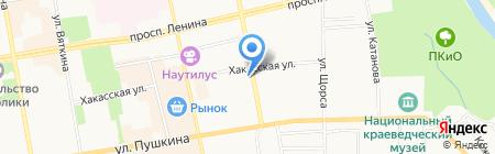 Российский Красный Крест на карте Абакана
