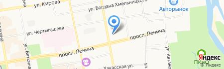 Магазин автошин и дисков на карте Абакана