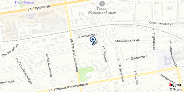 Участковый пункт полиции №2 на карте Абакане