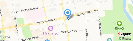 Банкомат Хакасский муниципальный банк на карте Абакана