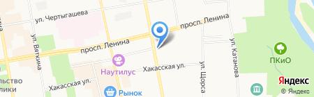 Управление технической инвентаризации Республики Хакасия на карте Абакана