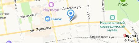Сауна на ул. Маршала Жукова на карте Абакана