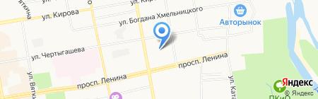 Абакан-АВТОГАЗ на карте Абакана