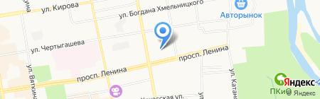 Пельменная на проспекте Ленина на карте Абакана