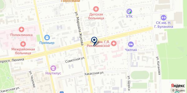 Офтальмологическая клиническая больница им. Н.М. Одежкина на карте Абакане
