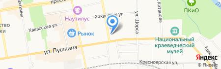 Провиант на карте Абакана