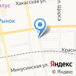 Охрана МВД России на карте Абакана