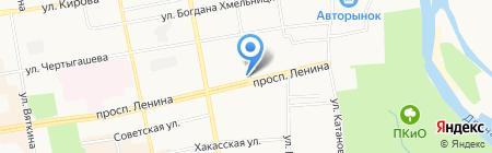 Продукты на Ленина на карте Абакана