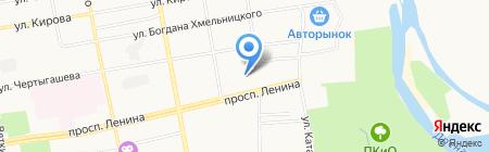 МК-Абакан на карте Абакана