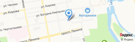 Шинный магазин на ул. Чертыгашева на карте Абакана