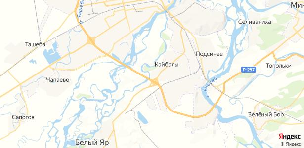Кайбалы на карте
