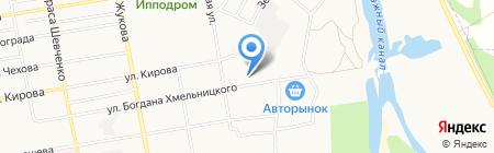 Магазин продуктов на ул. Богдана Хмельницкого на карте Абакана