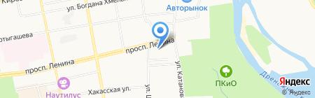 Ветеринарная клиника на карте Абакана