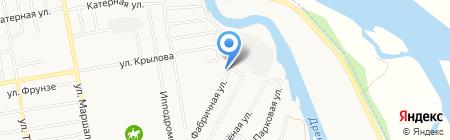 Магазин продуктов на Фабричной на карте Абакана