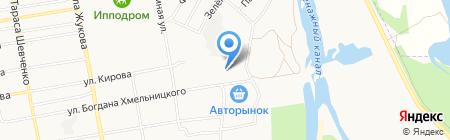 Автостоп на карте Абакана