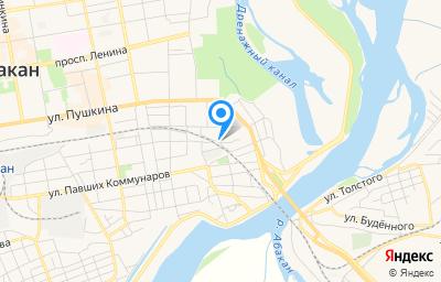 Местоположение на карте пункта техосмотра по адресу г Абакан, ул Минусинская, д 22