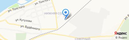 Эластика на карте Абакана