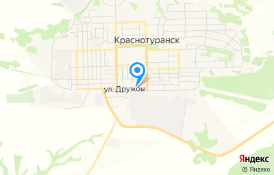 Местоположение на карте пункта техосмотра по адресу Красноярский край, Краснотуранский р-н, с Краснотуранск, ул Дружбы, д 68, пом 1