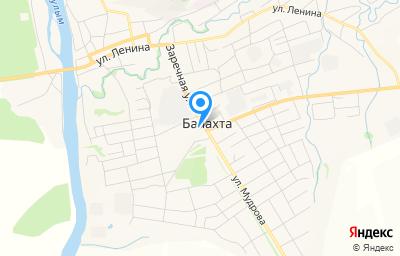 Местоположение на карте пункта техосмотра по адресу Красноярский край, пгт Балахта, ул Заречная, д 36