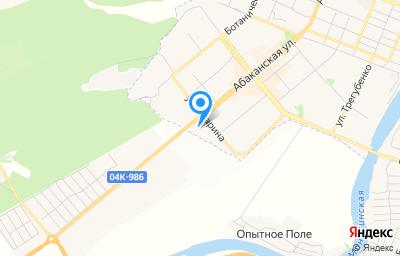 Местоположение на карте пункта техосмотра по адресу Красноярский край, г Минусинск, ул Абаканская, д 71