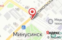 Схема проезда до компании Современный Гуманитарный Университет в Минусинске