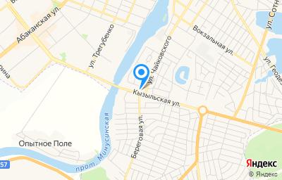 Местоположение на карте пункта техосмотра по адресу Красноярский край, г Минусинск, ул Кызыльская, д 5А