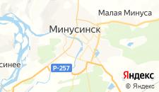 Отели города Минусинск на карте