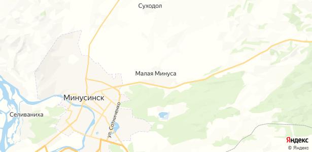Малая Минуса на карте