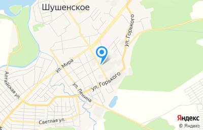 Местоположение на карте пункта техосмотра по адресу Красноярский край, пгт Шушенское, ул Пионерская, д 13