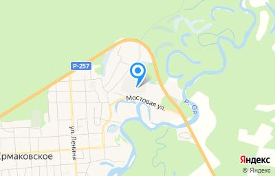 Местоположение на карте пункта техосмотра по адресу Красноярский край, с Ермаковское, ул Мостовая, д 5