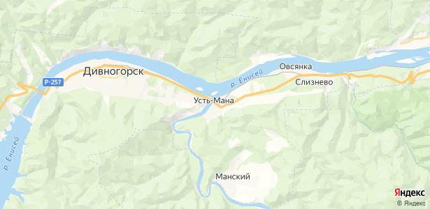Усть-Мана на карте