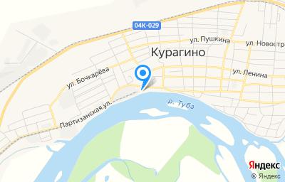 Местоположение на карте пункта техосмотра по адресу Красноярский край, пгт Курагино, ул Партизанская, д 100, пом 1