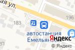 Схема проезда до компании Ювента в Емельяново