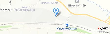 Гарс на карте Красноярска