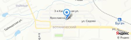 Алексеевский двор на карте Красноярска