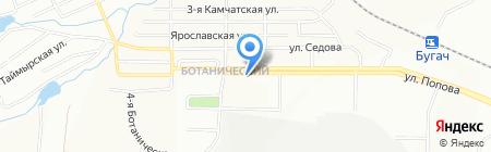 Агава на карте Красноярска