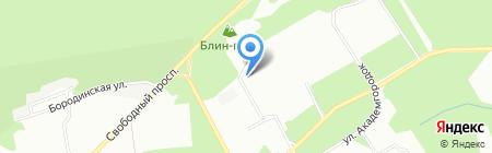 Элен на карте Красноярска