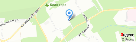 Абаканские полуфабрикаты на карте Красноярска