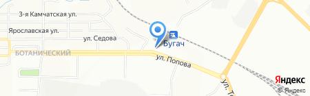 Локомотив на карте Красноярска