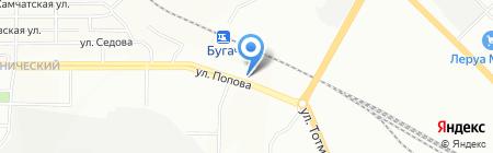 Снежана на карте Красноярска