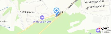 Универ на карте Красноярска