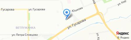 Арина на карте Красноярска
