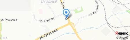 Тихонович на карте Красноярска