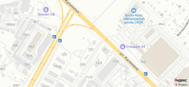Улица Калинина, 77 на карте Хабаровска — Яндекс.Карты | 300x650