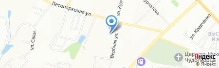 Иннова на карте Красноярска