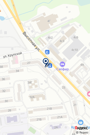 МАГАЗИН УНИВЕРМАГ НА ВЫСОТНОЙ на карте Красноярска