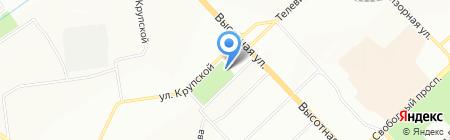 Киоск по продаже мороженого на карте Красноярска