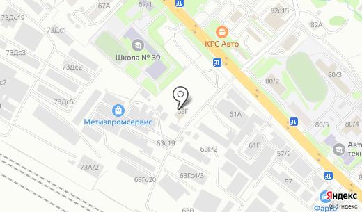 Центр Монтажа. Схема проезда в Красноярске