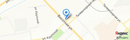 Сибвэй на карте Красноярска