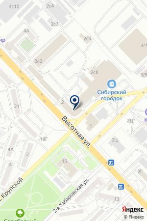 КБ ЕНИСЕЙСКИЙ ОБЪЕДИНЕННЫЙ БАНК на карте Красноярска
